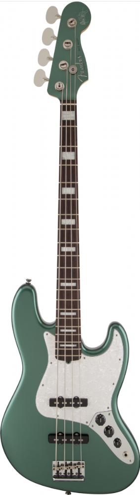 Fender Adam Clayton Jazz Bass Rosewood Fingerboard, Sherwood Green Metallic